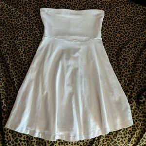 Express - White Strapless Skater Dress